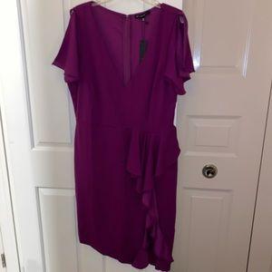 NWT Ruffle split dress